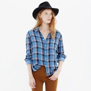 Madewell • Cozy Shirt in Blue Plaid
